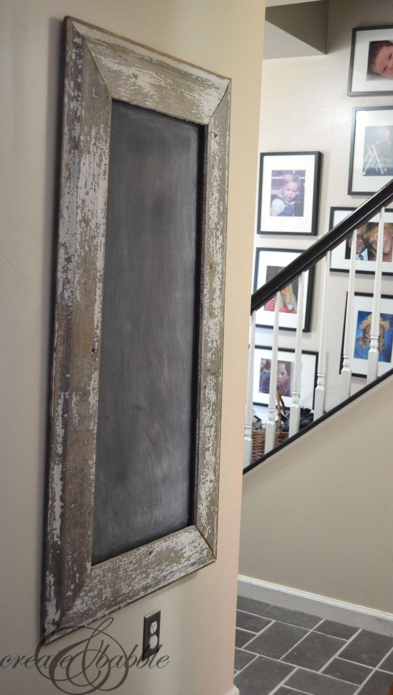 29 Chalkboard with Salvaged Wood Frame
