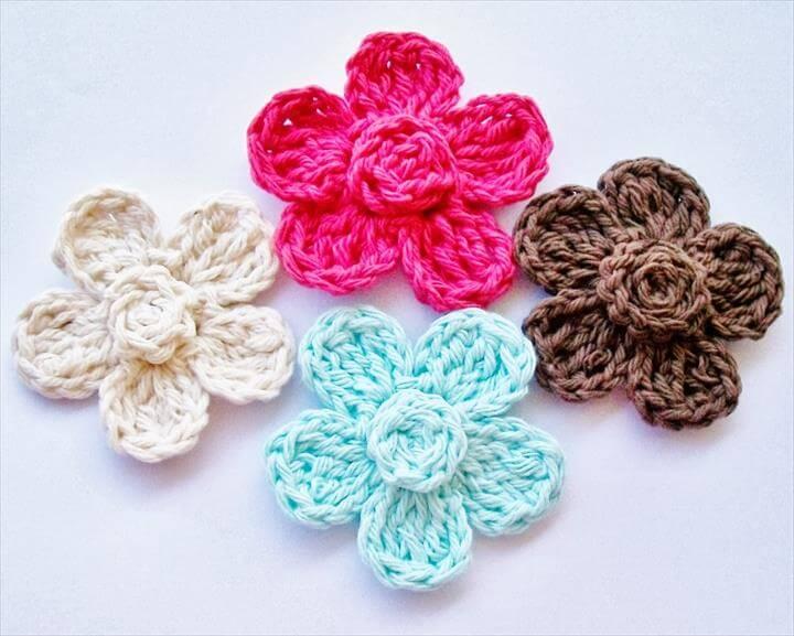 29 Free Crochet Flower Pattern