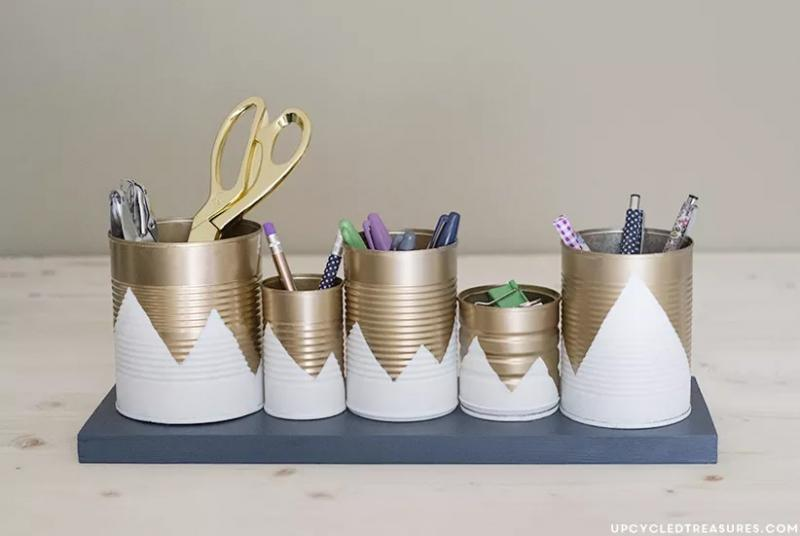 29 Upcycled Tin Can Organizer