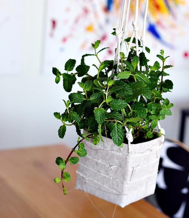 3 Recycled Hanging Planter Made out of an Old Milk Carton