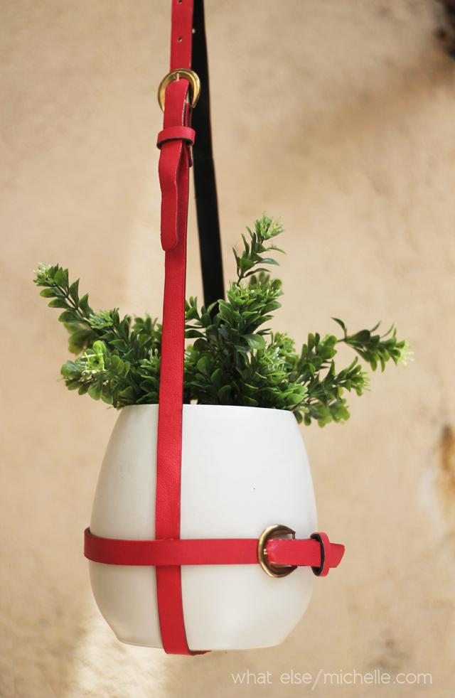 30 DIY Hanging Belt Planter