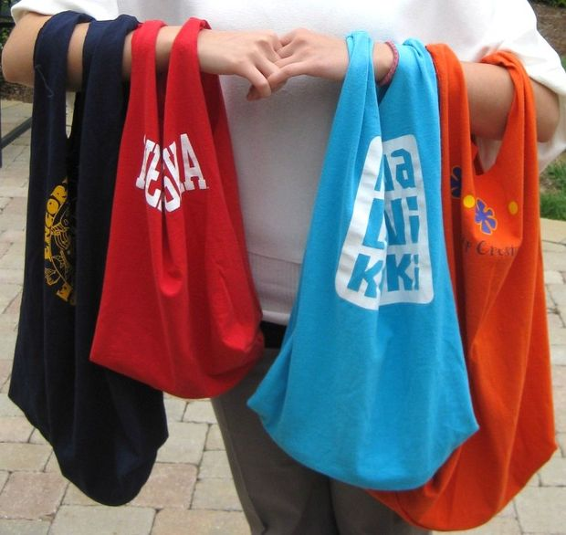 30 Recycled T-Shirt Tote Bags
