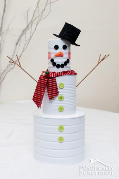 30 Tin Can Snowman