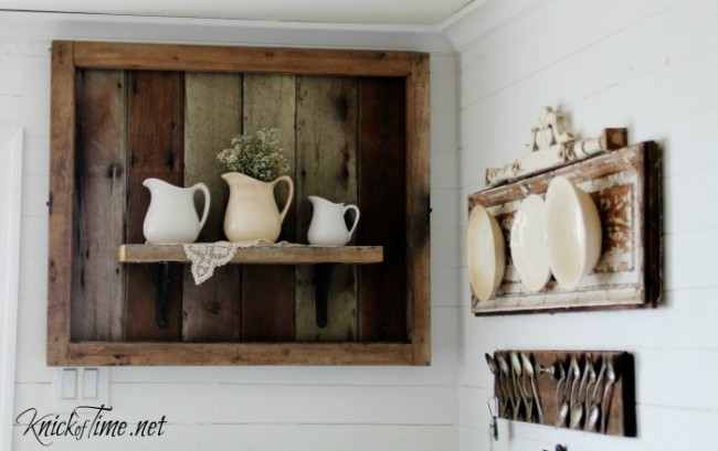 32 Salvaged Wood Display Shelf