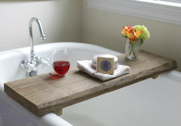 33 Reclaimed Wood Bath Caddy