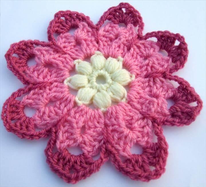 33 Vintage Crochet Granny Square Pattern For Flower