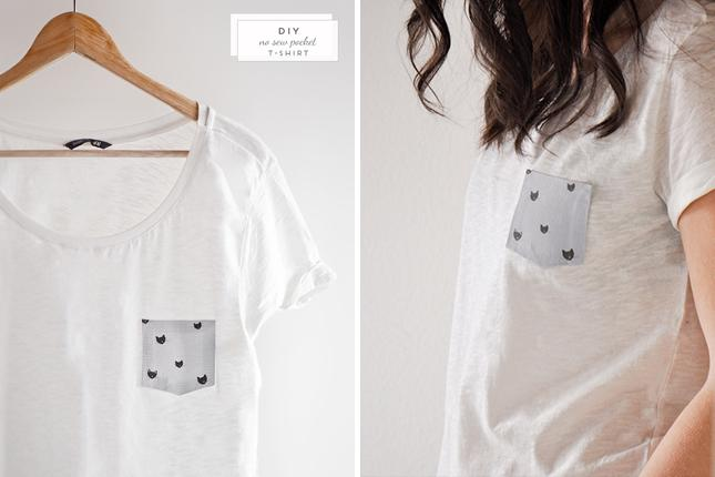 34 No Sew Simple and Sweet Pocket T-Shirt