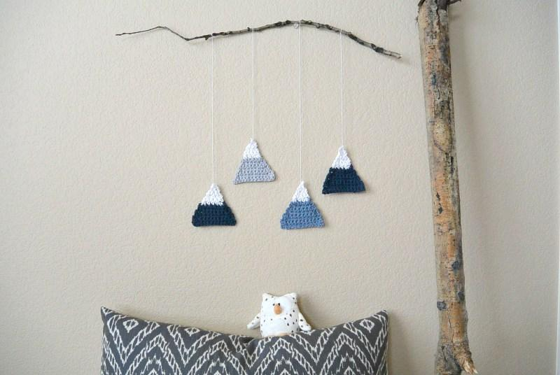 35 Crochet Mountains Wall Hanging