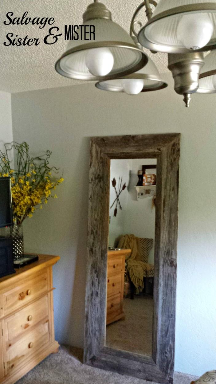 35 Salvaged Wood Mirror