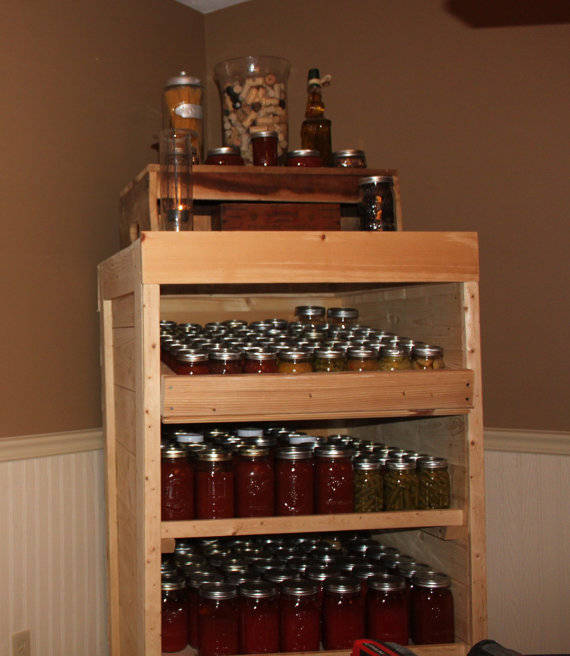 35 Use Pallets to Build A Canning Pantry Cupboard