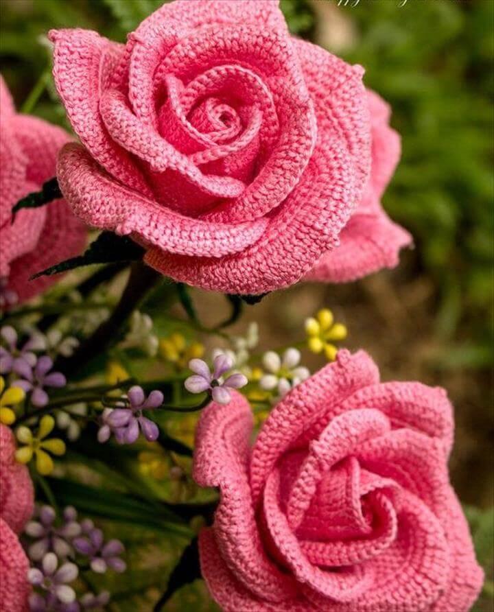 36 Crochet Flower Pattern For Bouquets