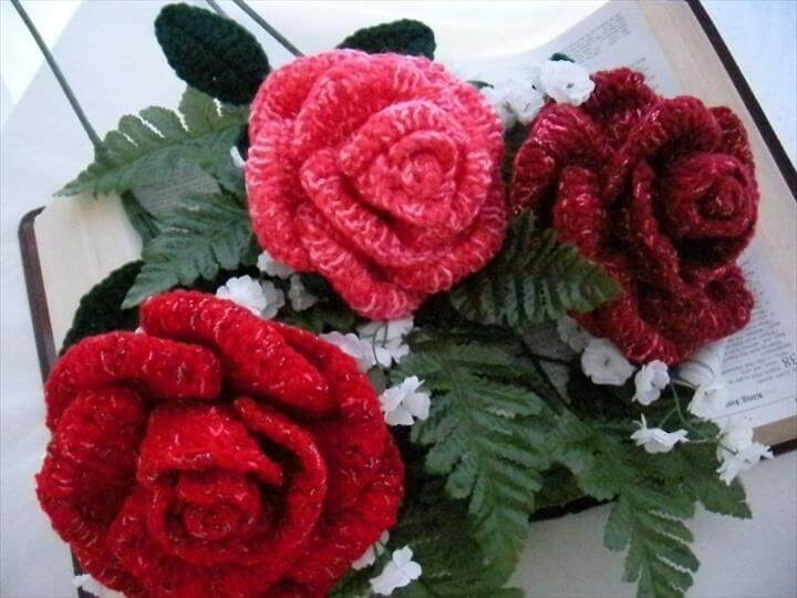 37 Free Crochet Flower Patterns Roses