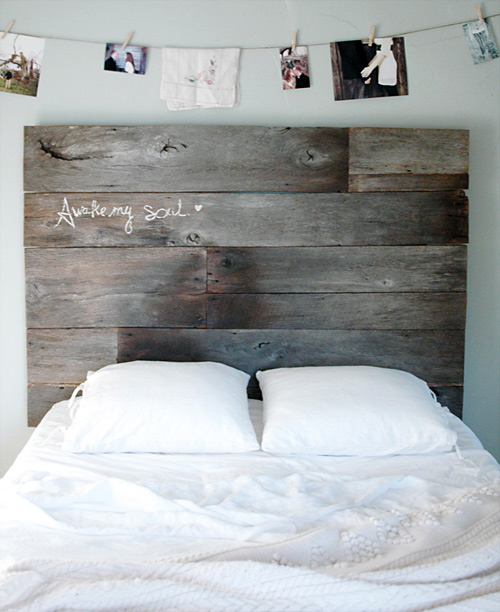 37 Salvaged Barnwood Headboard
