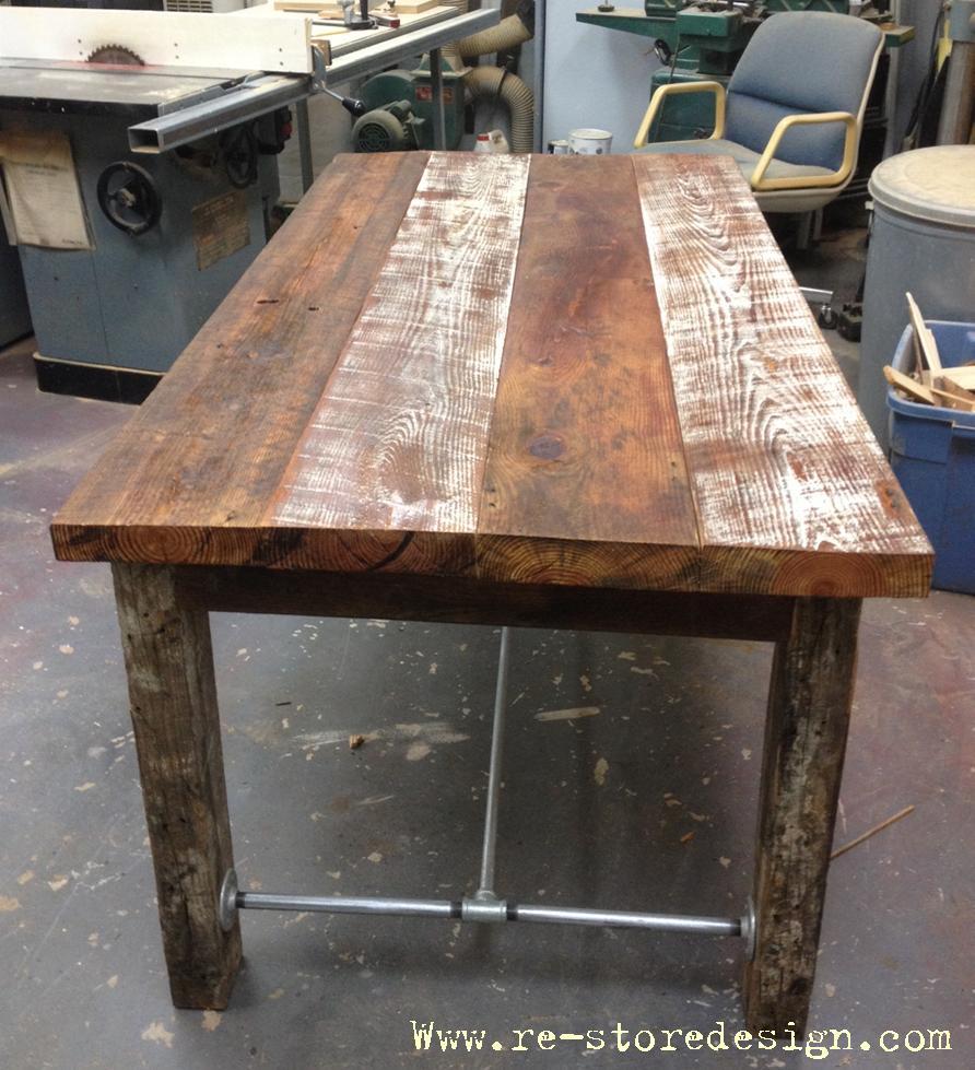 38 Reclaimed Wood Farm Table