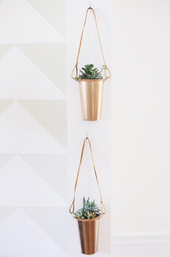 4 Hanging Copper Planter