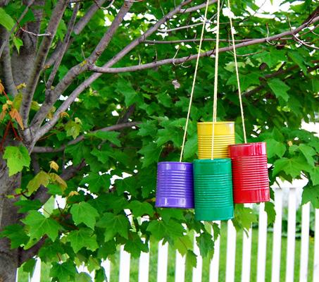 40 Tin Can Wind Chime