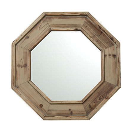 41 Reclaimed Wood Octagon Mirror