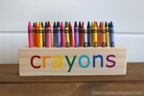 42 Crayon or Pencil Block Holder