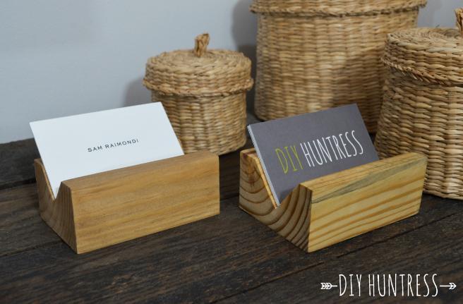 44 Wooden Business Card Holder
