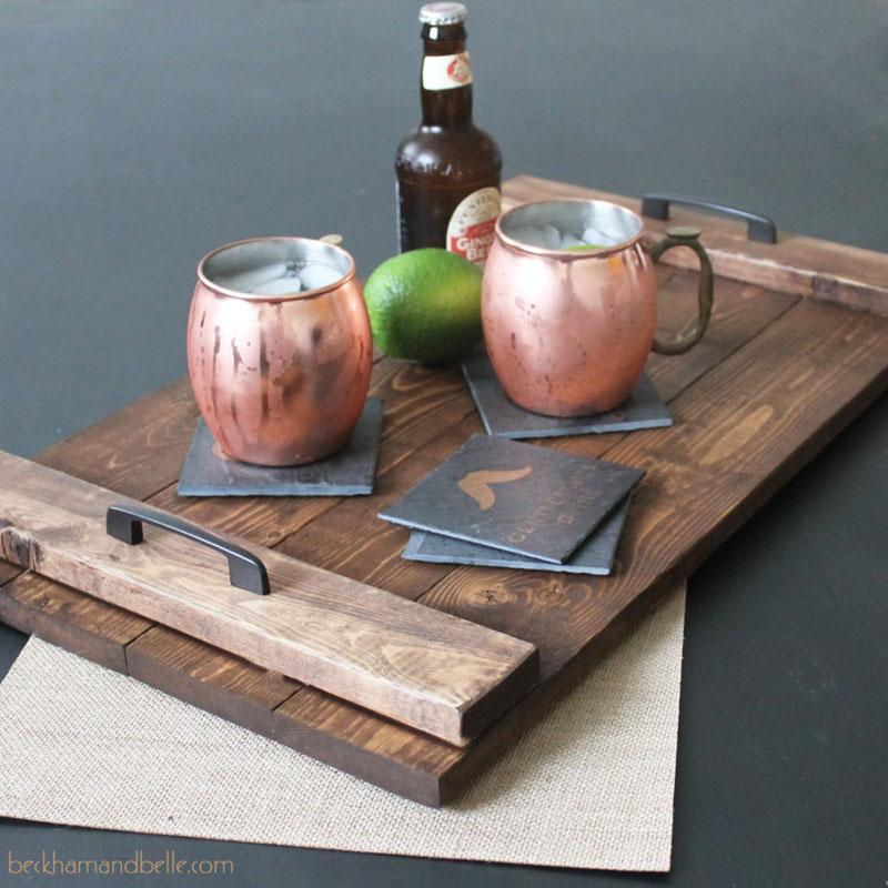 45 Wooden Serving Tray