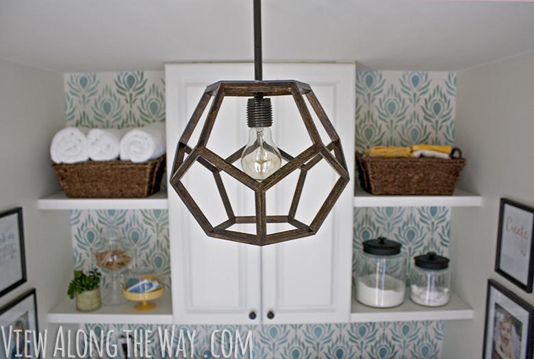 48 Geometric Wood Pendant Light