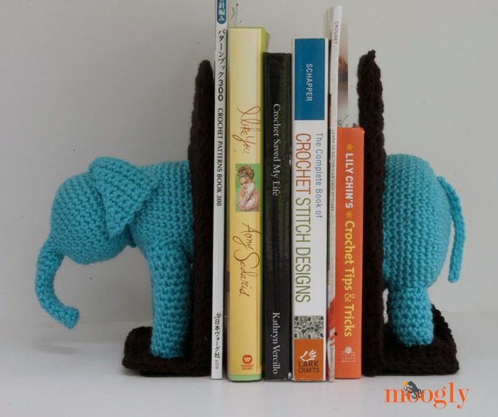 5 Elephant Bookends