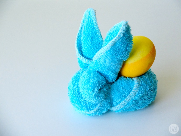 5 Turn your everyday face towels into this adorable bunny