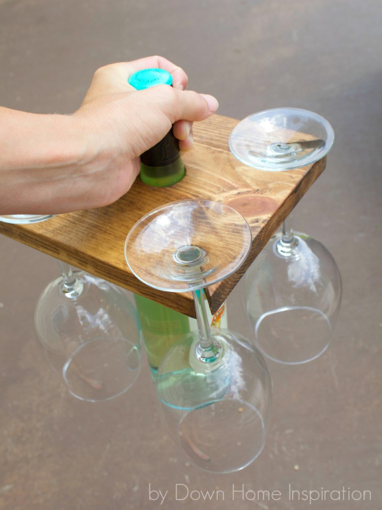 53 Holder for a Wine Bottle and Glasses