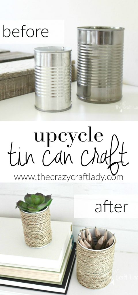 54 Upcycling a tin can craft