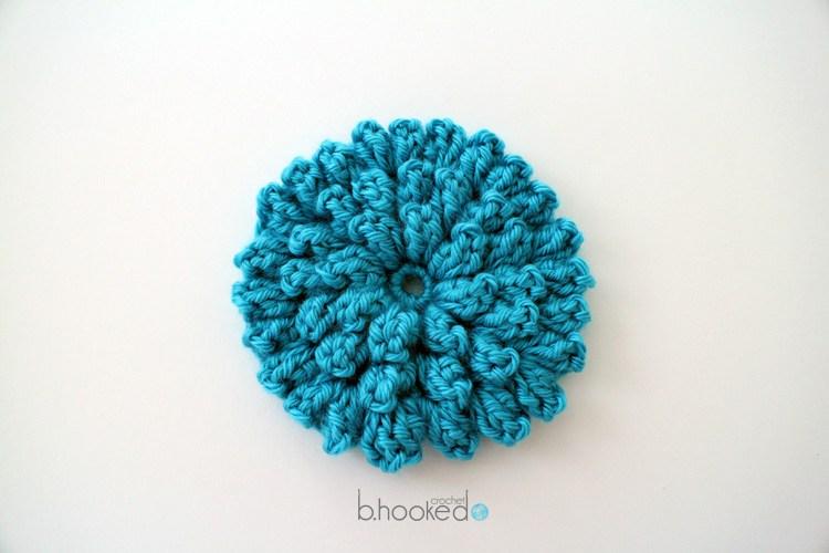 6 Popcorn Stitch Blue Marigold