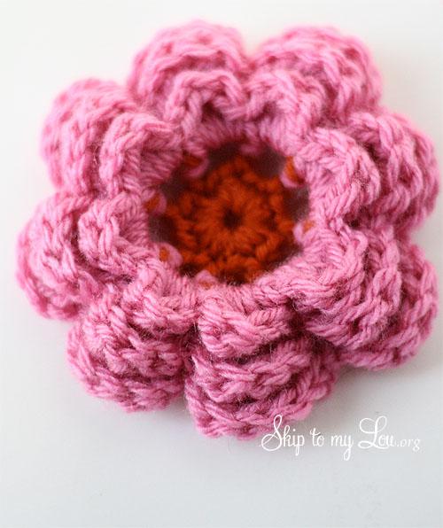 7 Layered Crochet Flower
