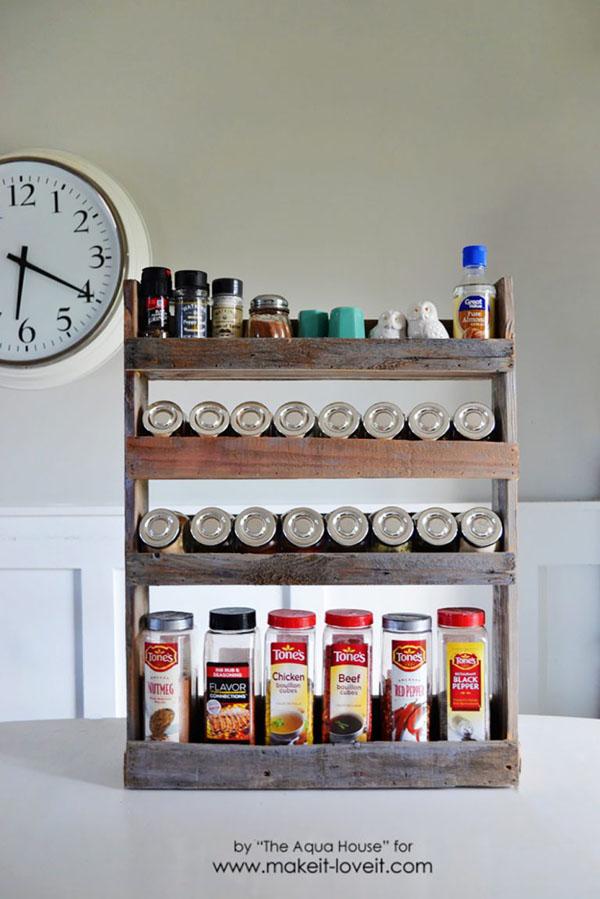 7 Pallet Spice Rack