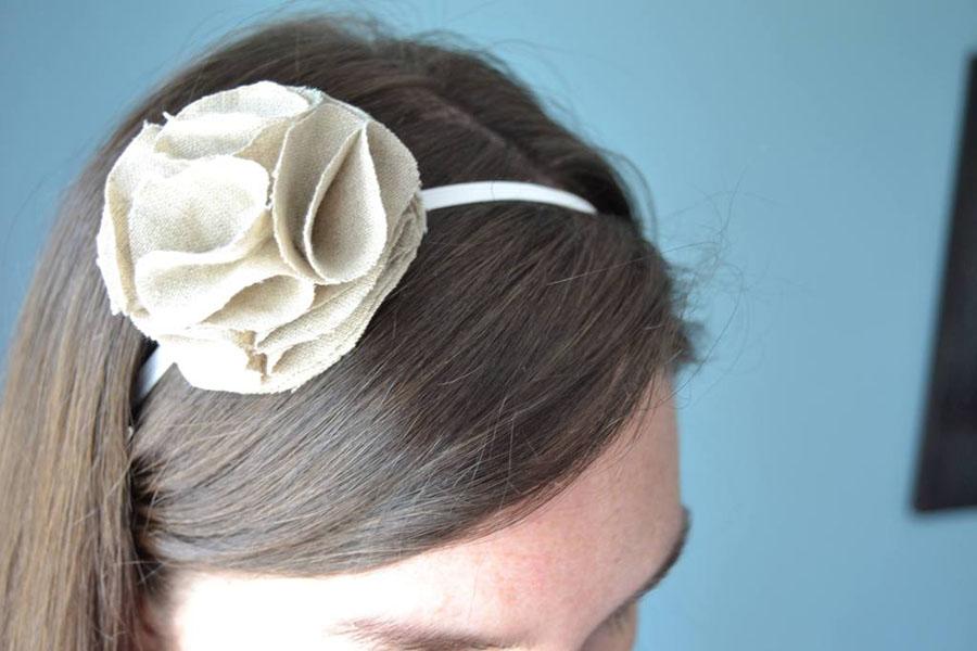 7 Ruffle Flower Headband
