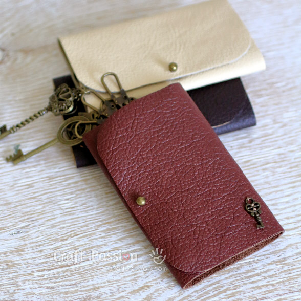 8 Leather Key Pouch