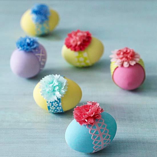 8 Ribbon Easter Eggs