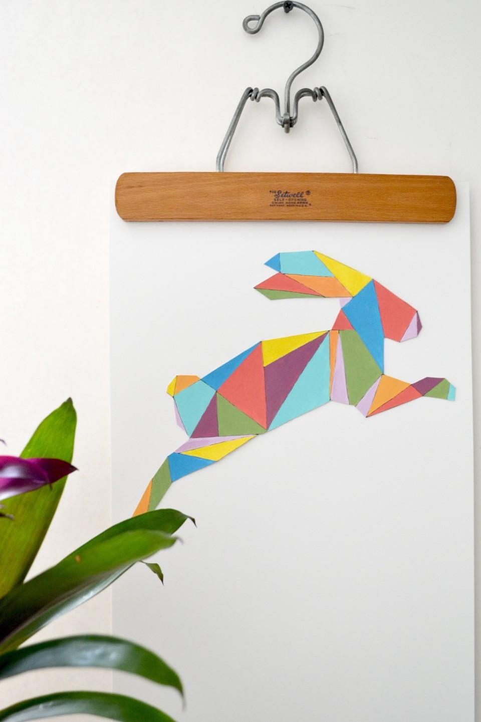 9 Create colorful Easter wall art