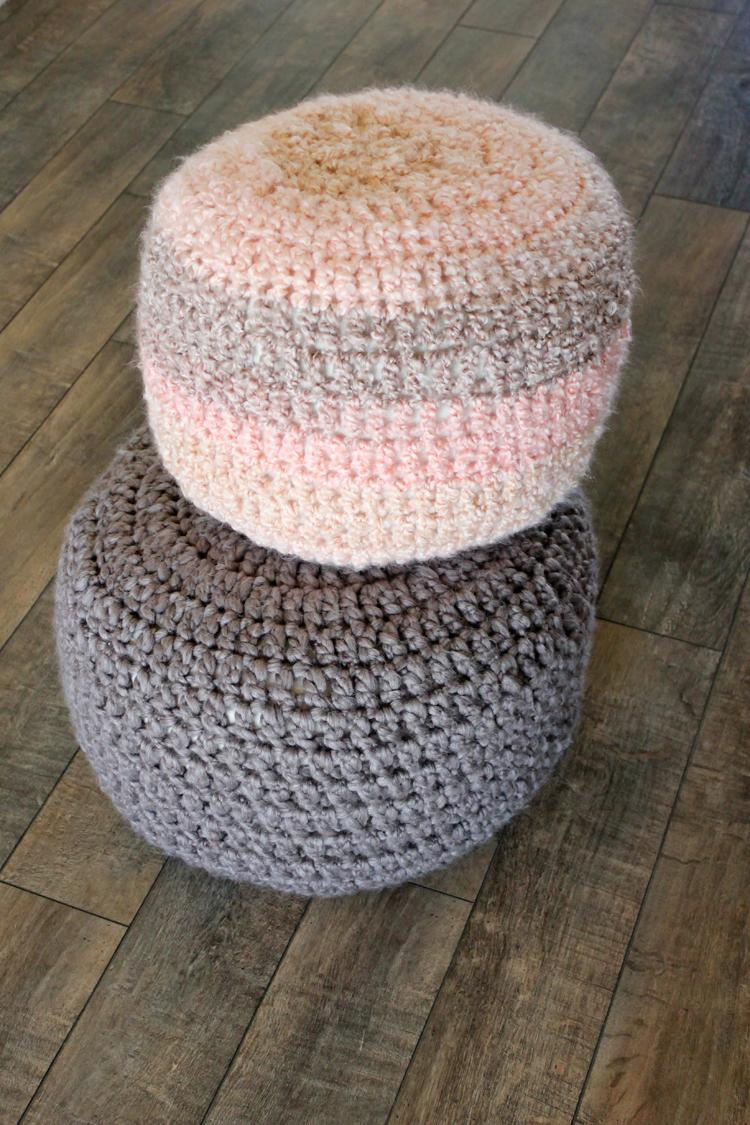 1 Crocheted Floor Cushions