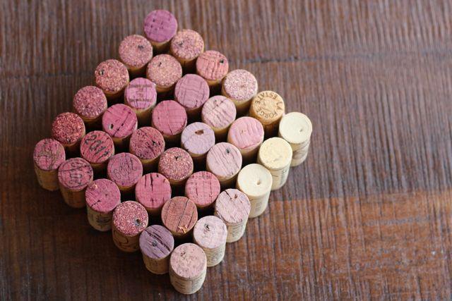 10 Ombre Wine Cork Trivet