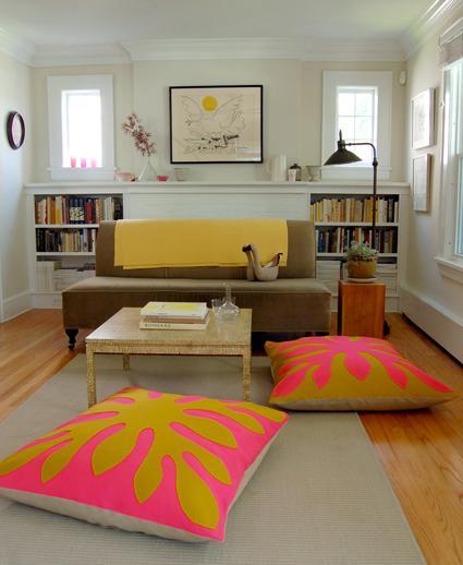 11 Hawaiian Style Felt Floor Pillows