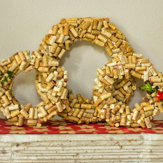 12 Cork Wreath