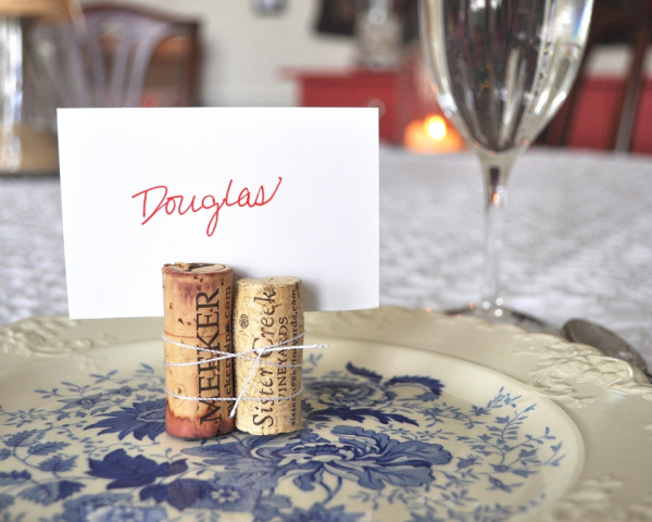15 Wine Cork Place Cards Gift Tags