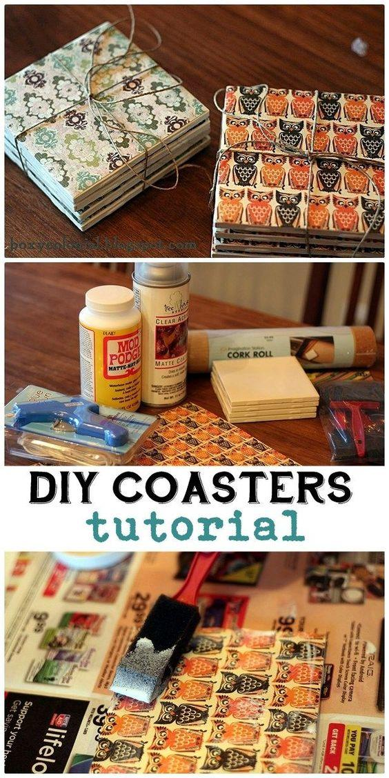 16 DIY Coasters for Christmas