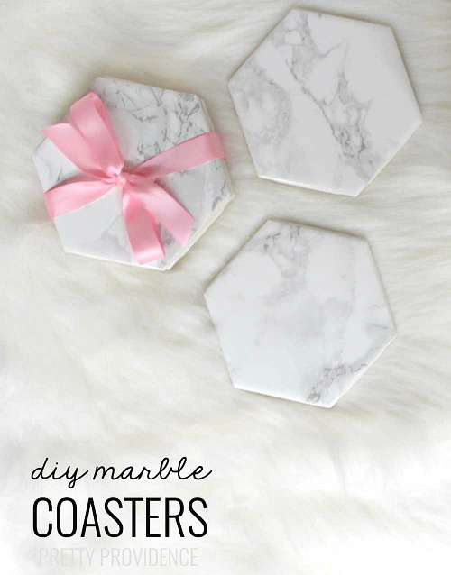 18 DIY Marble Coasters