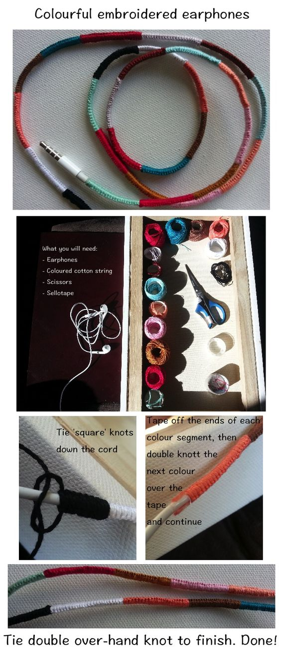 18 Make your earphones colourful