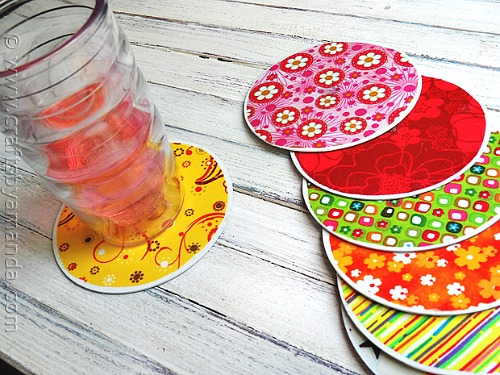19 Recycled CD Coasters
