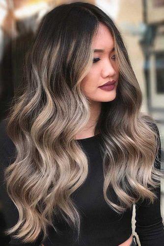 28 Gorgeous Balayage Hair Dark Color Ideas; balayage hairstyles; balayage highlights; balayage hair color; balayage hair blonde