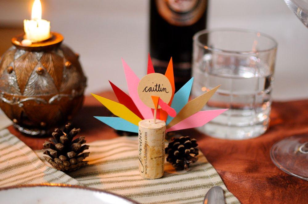 22 Turkey Wine Cork Place Cards