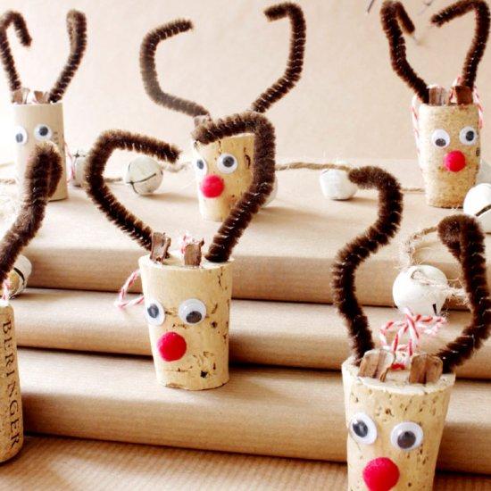 23 Wine Cork Reindeer Ornament