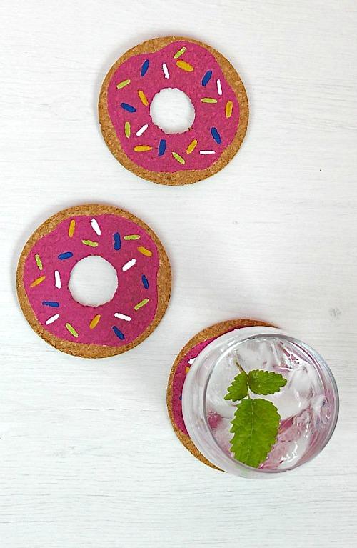 24 Donut Coasters