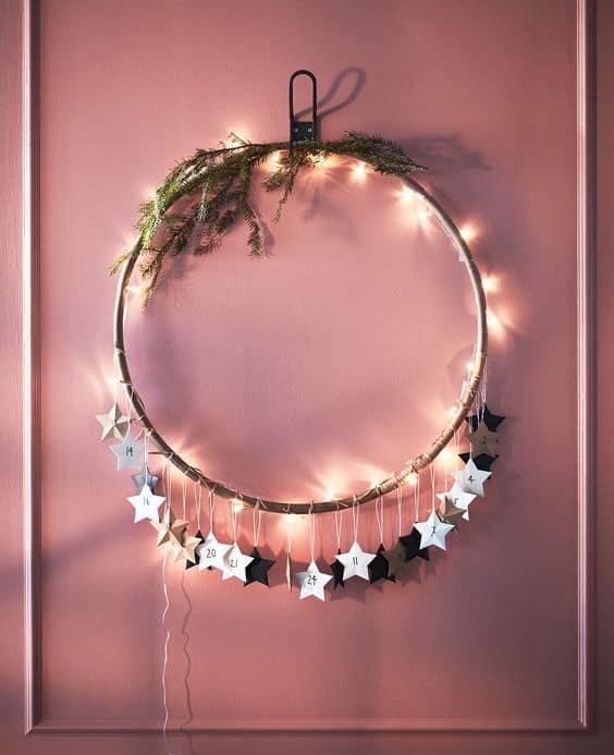 24 minimalist christmas wreath